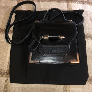 Mackage Rubie silver hardware black leather bag